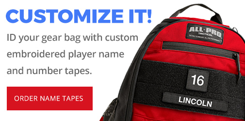 Customize & ID your gear bag with custom embroidered name and number tapes.