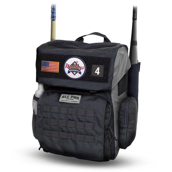 All-Pro Tactical Hardball Series Rolling Loadout Bag - Nations Baseball Edition