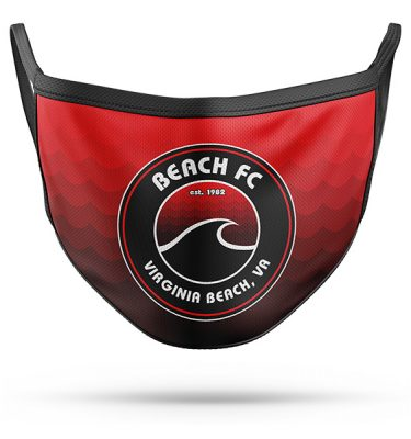 All-Pro Tactical Beach FC Logo 2-Ply Face Mask