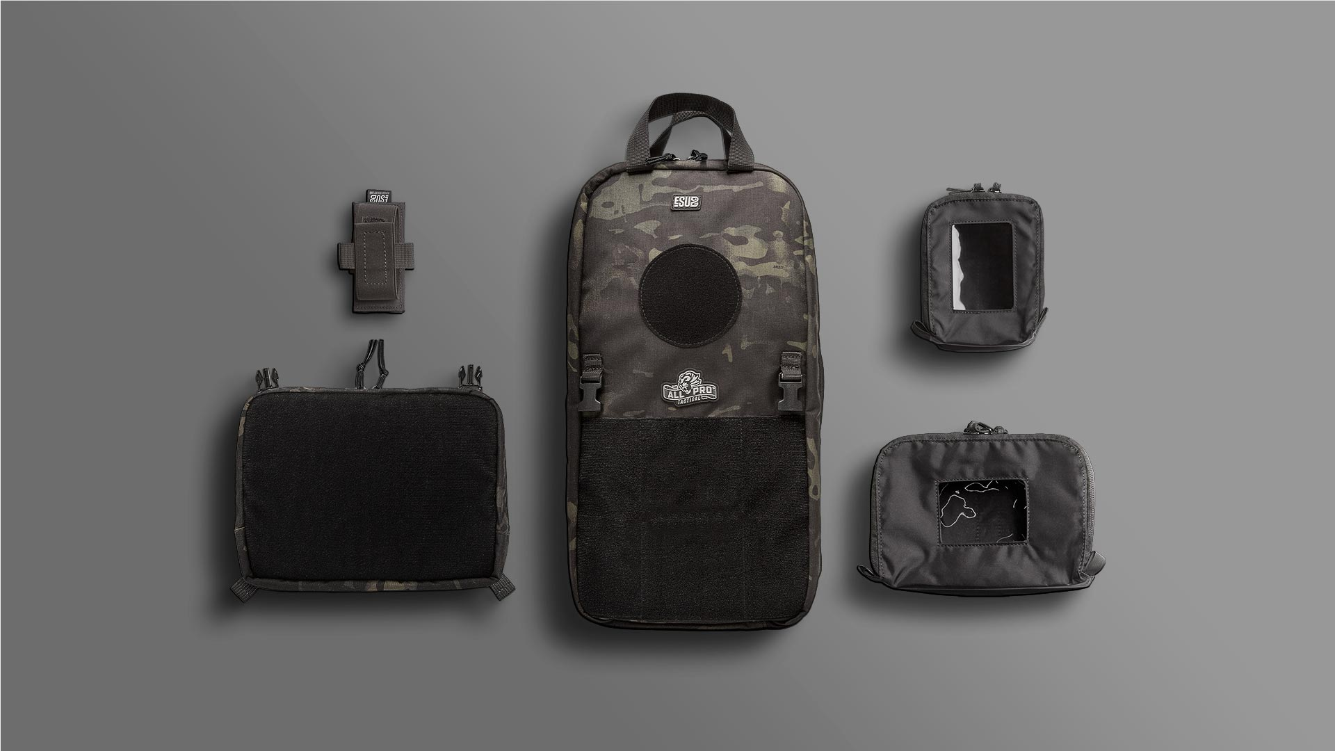 MultiCam Black Edition ESUB Go Bag & Components